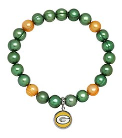 NFL® Green Bay Packers Freshwater Pearl Bracelet with Logo Charm