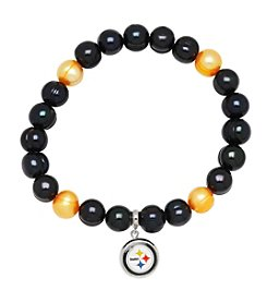 NFL® Pittsburgh Steelers Freshwater Pearl Bracelet with Logo Charm