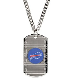 NFL® Buffalo Bills Sterling Silver Dog Tag with Stainless Steel Endless Chain