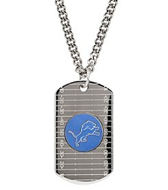 NFL® Denver Broncos Sterling Silver Dog Tag with Stainless Steel Endless Chain