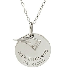NFL® New England Patriots Sterling Silver Polished Layer Disk Pendant Necklace