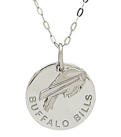 NFL® Buffalo Bills Sterling Silver Polished Layer Disk Pendant Necklace