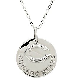NFL® Chicago Bears Sterling Silver Polished Layer Disk Pendant Necklace