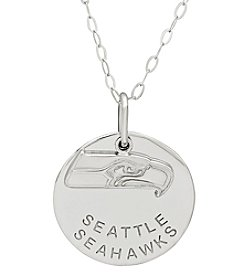NFL® Seattle Seahawks Sterling Silver Polished Layer Disk Pendant Necklace
