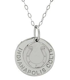 NFL® Philadelphia Eagles Sterling Silver Polished Layer Disk Pendant Necklace