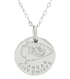 NFL® Kansas City Chiefs Sterling Silver Polished Layer Disk Pendant Necklace