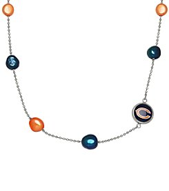 NFL® Chicago Bears Sterling Silver Baroque Pearl Tin Cup Necklace