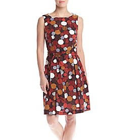 Anne Klein® Polka Dot Fit And Flare Dress