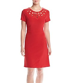 Adrianna Papell® Cut Out Embroidered Dress