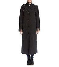 Gallery® Long Rain Coat With Double Collar