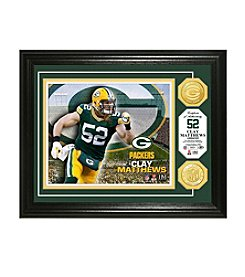 NFL® Green Bay Packers Clay Matthews Bronze Coin Photo Mint by The Highland Mint