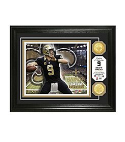 NFL® New Orleans Saints Drew Brees Bronze Coin Photo Mint by The Highland Mint