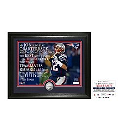 Highland Mint NFL® New England Patriots Tom Brady Quote with Silver Coin Photo Mint