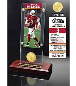 NFL® Arizona Cardinals Carson Palmer Ticket & Bronze Coin Ticket Acrylic by The Highland Mint