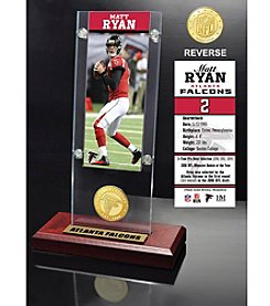 Highland Mint NFL® Atlanta Falcons Matt Ryan Ticket & Bronze Coin Ticket Acrylic
