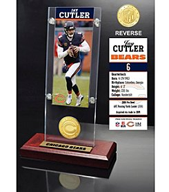 NFL® Chicago Bears Jay Cutler Ticket & Bronze Coin Ticket Acrylic by The Highland Mint