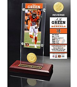 NFL® Cincinnati Bengals A.J. Green Ticket & Bronze Coin Ticket Acrylic by The Highland Mint