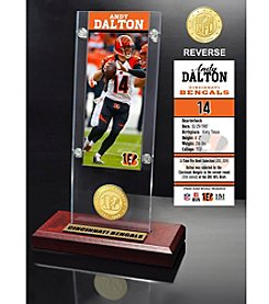 NFL® Cincinnati Bengals Andy Dalton Ticket & Bronze Coin Ticket Acrylic by The Highland Mint