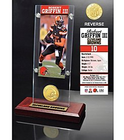 NFL® Cleveland Browns Robert Griffin III Ticket & Bronze Coin Ticket Acrylic by The Highland Mint