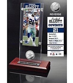 NFL® Dallas Cowboys Ezekiel Elliot Ticket & Bronze Coin Ticket Acrylic by The Highland Mint