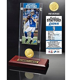 NFL® Detroit Lions Matthew Stafford Ticket & Bronze Coin Ticket Acrylic by The Highland Mint