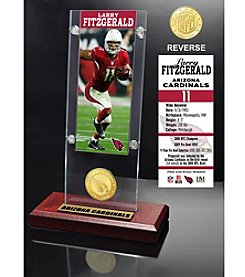 NFL® Arizona Cardinals Larry Fitzgerald Ticket & Bronze Coin Ticket Acrylic by The Highland Mint