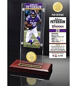 NFL® Minnesota Vikings Adrian Peterson Ticket & Bronze Coin Ticket Acrylic by The Highland Mint