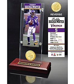 NFL® Minnesota Vikings Teddy Bridgewater Ticket & Bronze Coin Ticket Acrylic by The Highland Mint