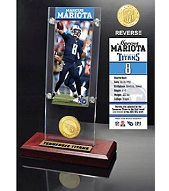 NFL® Tennessee Titans Marcus Mariota Ticket & Bronze Coin Ticket Acrylic by The Highland Mint