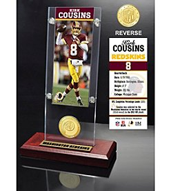 NFL® Washington Redskins Kirk Cousins Ticket & Bronze Coin Ticket Acrylic by  The Highland Mint