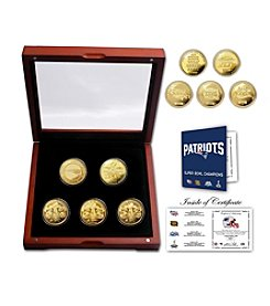 NFL® New England Patriots 4-Time Super Bowl Champions 5-Coin 24KT Gold Coin Set