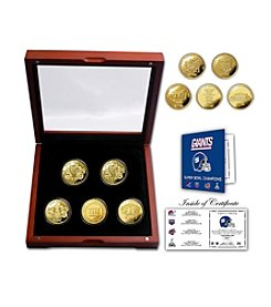 NFL® New York Giants 4-time Super Bowl Champions 5-Coin Gold Coin Set by The Highland Mint