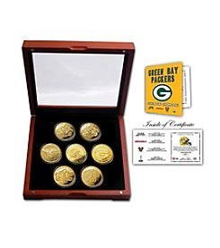 NFL® Green Bay Packers 24KT Gold plated 7-Coin Super Bowl Champions Set by The Highland Mint