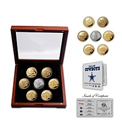 NFL® Dallas Cowboys 5-Time Super Bowl Champions Gold and Silver 7-Coin Set