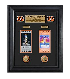 NFL® Cincinnati Bengals Super Bowl Ticket and Game Coin Collection Framed by The Highland Mint