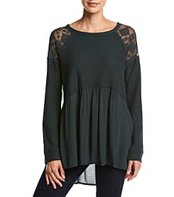Jolt® Lace Shoulder Top