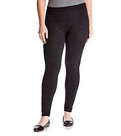 Pink Rose® Plus Size Fleece Leggings