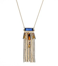 Relativity® Goldtone Fringe Necklace