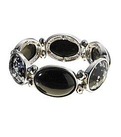 Studio Works® Faceted Black Stone Stretch Bracelet