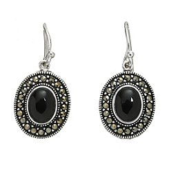 Marsala Onyx Oval Drop Earrings