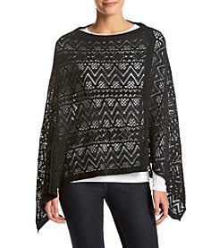 Cejon® Lace Effect Diamond Poncho
