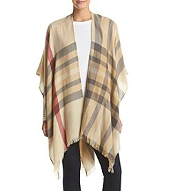V. Fraas Light Weight Plaid Wrap