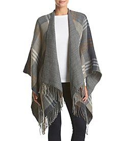 Basha Fringed Plaid Wrap