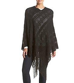 Basha Textured Asymmetrical Poncho