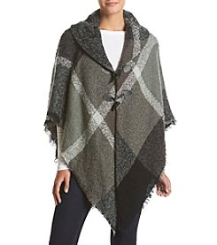 Collection 18 Oversized Plaid Poncho Jacket