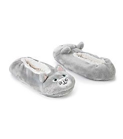 Fuzzy Babba® Pom Critter Cat with Memory Foam Slippers
