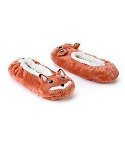 Fuzzy Babba® Pom Critter Fox With Memory Foam Slippers