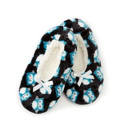 Fuzzy Babba® Owl Print With Memory Foam Slipper
