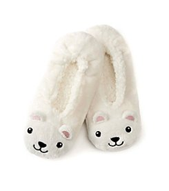 Fuzzy Babba Polar Bear Critter Slipper