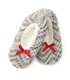 Fuzzy Babba® Textured Print Slippers